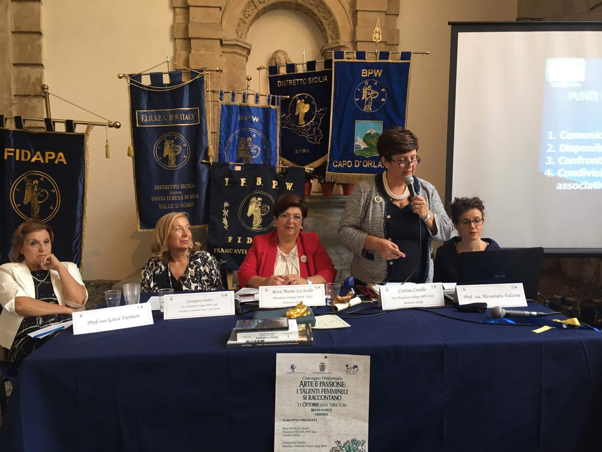 Messina: convegno distrettuale Fidapa