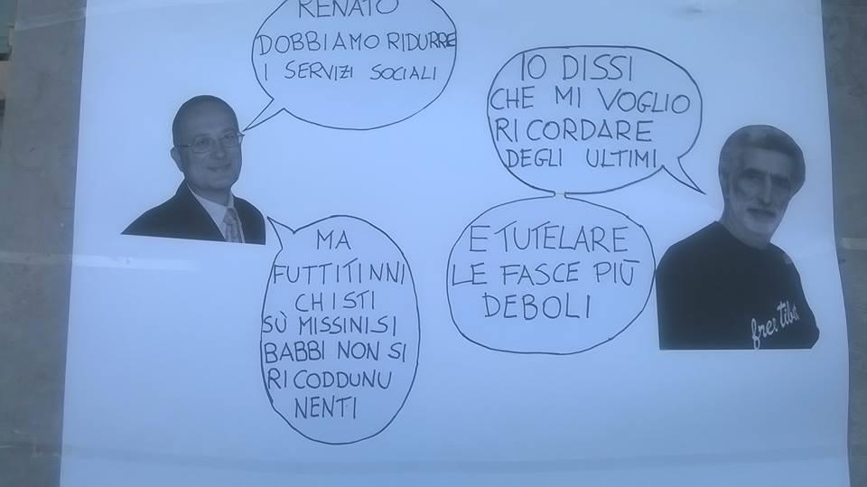 Comune di Messina: i lavoratori dei servizi sociali, in protesta a Palazzo Zanca