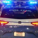 polizia retro macchina